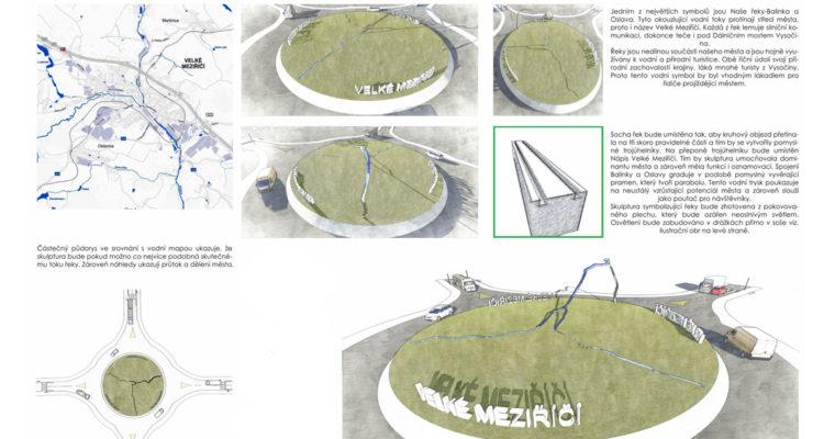 Velké Meziříčí/ Česka republika/návrh kruhového objezdu pro Vel. Meziříčí