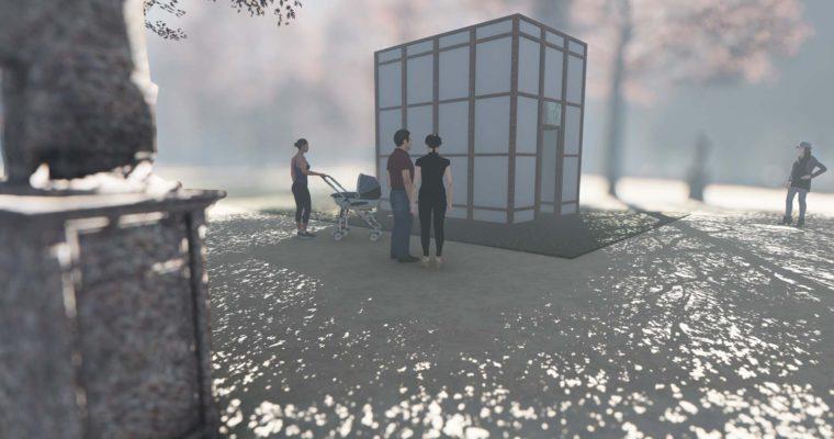 """Návrh na dočasnou instalaci pod názvem """"Salón Entropie"""" v Bruselském parku Warandepark"""