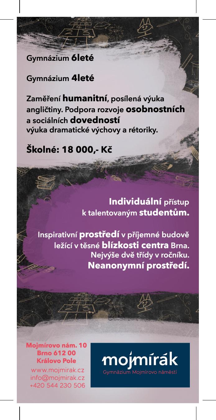 mojmírák Mojmírovo náměstí Brno leták grafika veletrh gymnázium